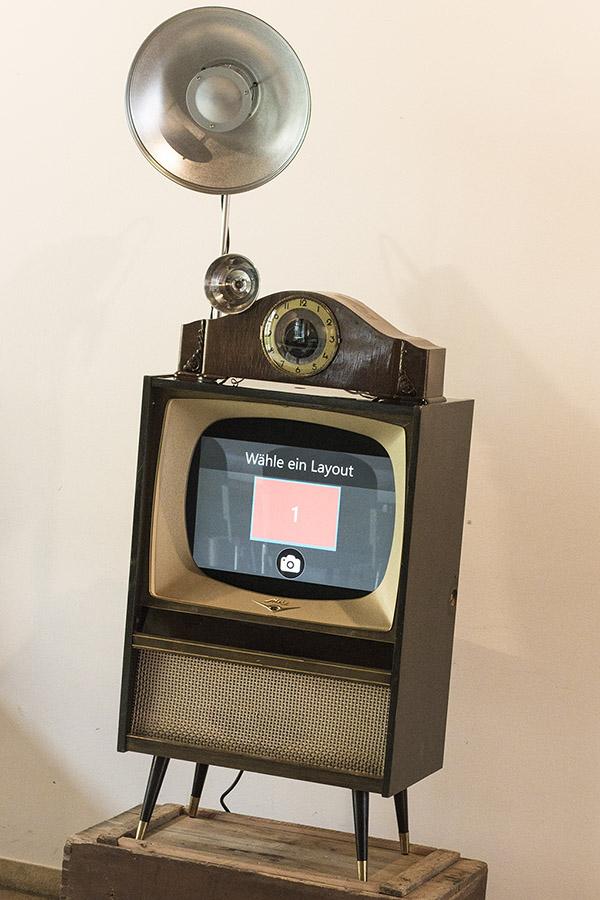 Mobile Fotobox im Vintagestyle